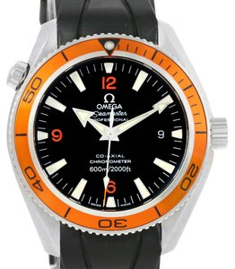 Omega Omega Seamaster Planet Ocean Orange Bezel Watch 2909.50.91 Box Papers