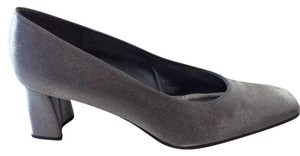 Stuart Weitzman Pewter Matte Lame Pumps