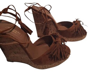 Aquazzura Cognac Wedges