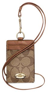 Coach Coach Lanyard ID Case in Signature - F63274