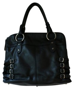 Frye Leather Distressed Urban Satchel in Black