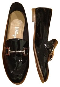 Salvatore Ferragamo Patent Leather Black Flats