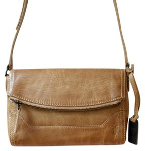 Frye Distressed Leather Urban Cross Body Bag