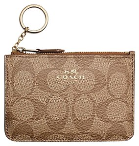Coach Coach Key Pouch with Gusset in Signature Canvas - F63923