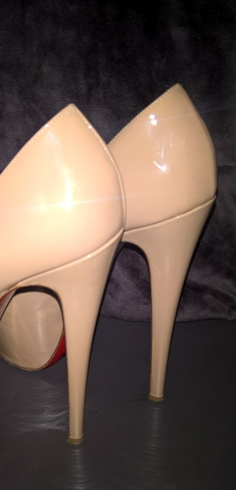 Christian Toe Peep 160mm Louboutin Nude Pumps 4 OqBrOpxw