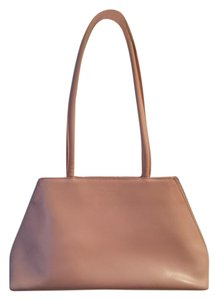 Furla Satchel in Pale Pink with Yellow side panels