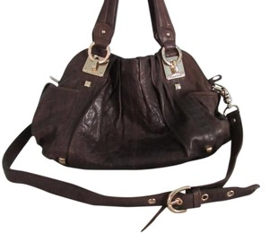 Junior Drake Cool Hip Stylish Leather Satchel in Brown