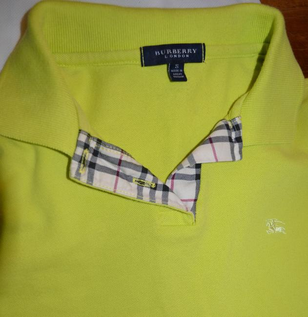 Burberry Chartruse Brit Women 39 S Check Polo Tee Shirt Size