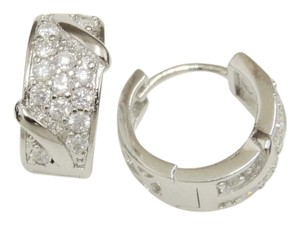 Other The Baroque CZ Rhodium Womens Earrings/Leverback Closure