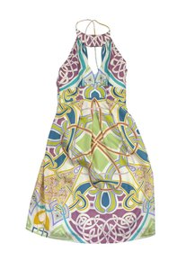 Nicole Miller short dress Multi Color Silk Halter on Tradesy