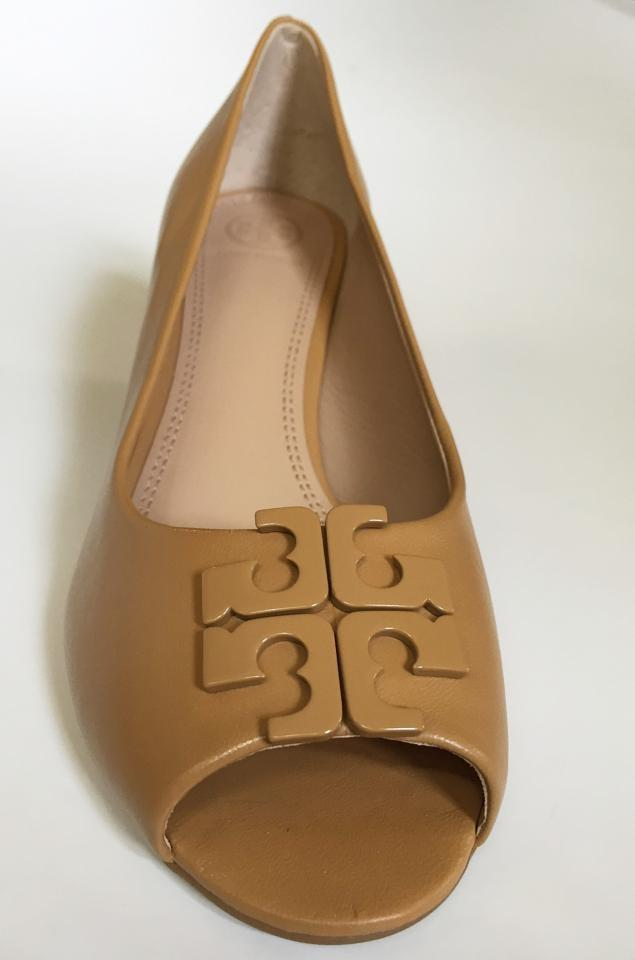 290d7578a817 Tory Burch Blond Lowell 65mm Pump Peep-toe Leather Wedges Size US 10.5  Regular (M