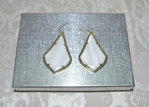 Kendra Scott KENDRA SCOTT Alexandra Gold Edge Dangler Earrings Mother of Pearl