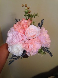 Paper Flower Bridesmaid Bouquets