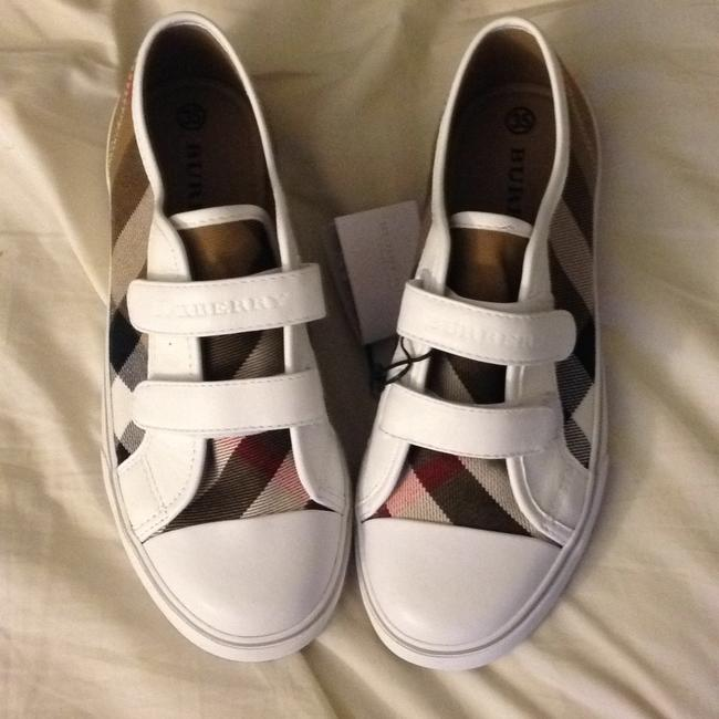 Item - White with Classic Plaid Pete Check Sneakers Size US 5 Regular (M, B)