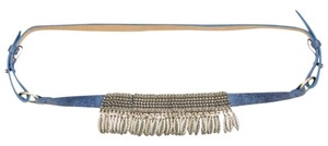 Streets Ahead Charm Fringe Blue Lather Belt