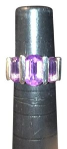 Sterling silver and amethyst ring.