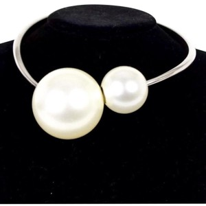 Chanel 2014 double pearl necklace choker Chanel