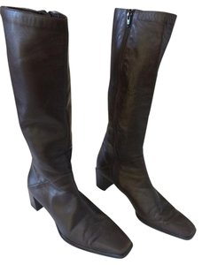 Stuart Weitzman Brown Leather Knee-high Classic Dark Brown Boots