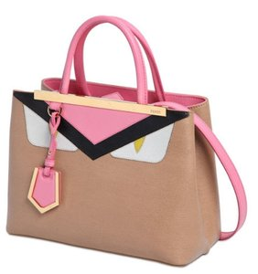 Fendi Tote in Beige Tan Pink Multicolor