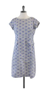 Tory Burch short dress Blue & White Cotton Short Sleeve on Tradesy