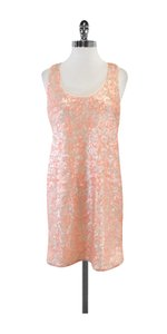 Shoshanna short dress Coral Peach Sequin Tank on Tradesy