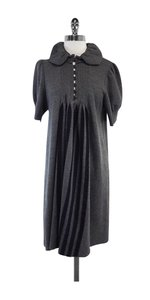 Marc Jacobs short dress Grey Knit Pleated Empire on Tradesy