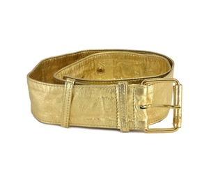 Moschino Gold Soft Leather Belt