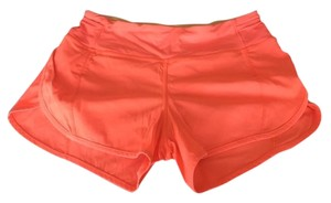 Lululemon Running Yoga Grapefruit/Tangerine Shorts
