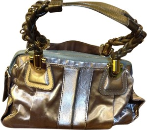 Chloé Satchel in Metallic Light Purple