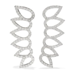 nOir New Silver and Crystal Ear Climbers, 719072