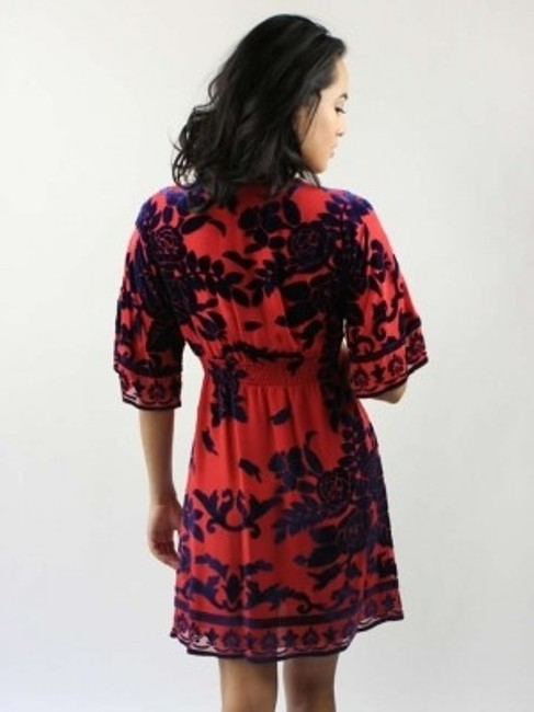 Hale Bob short dress Red and blue on Tradesy
