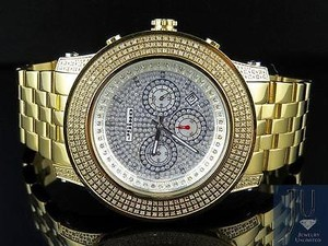 Rolex Mens Joe Rodeo Jojo Jojino 300 Gold Plated Mm Diamond Watch Ct Mj-8034