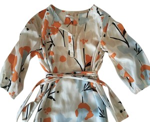 Diane von Furstenberg short dress White, Orange, Blue, Black on Tradesy