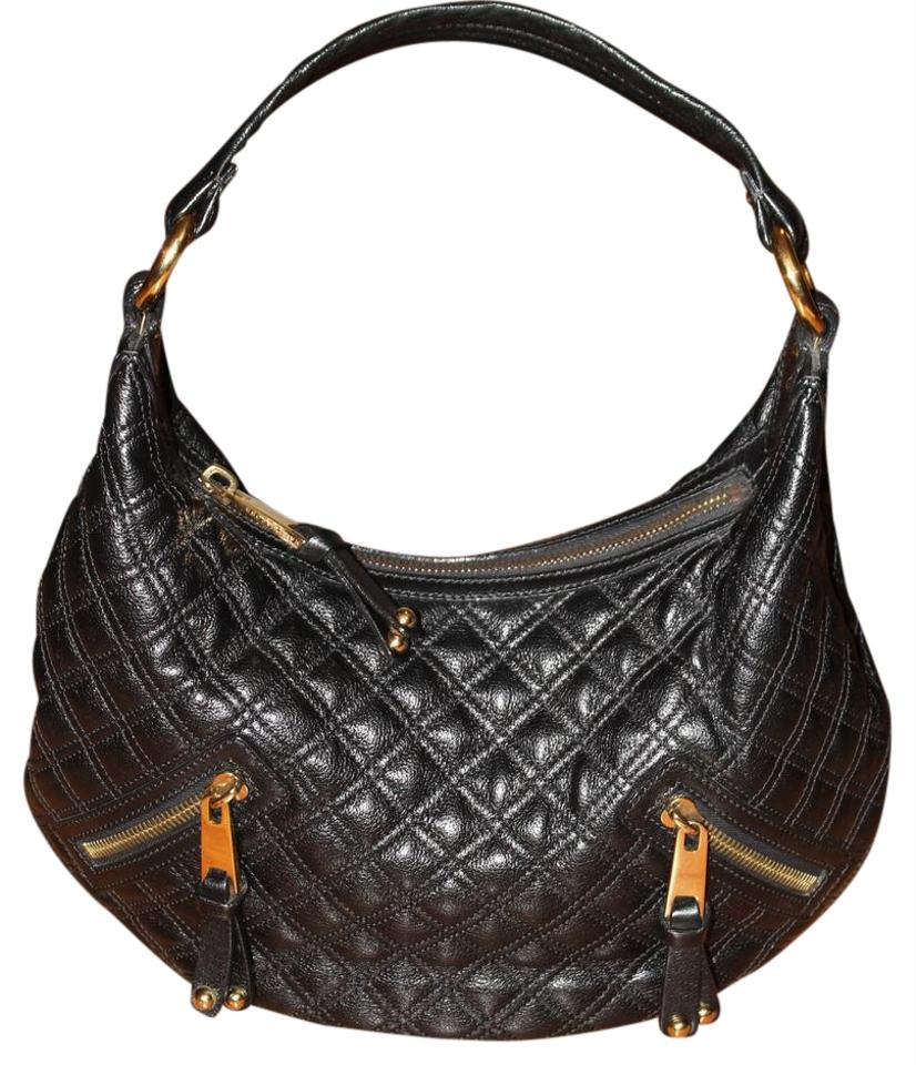 Marc Jacobs 75% Off Banana Quilted Handbag Black and Gold Leather ... : black quilted handbag - Adamdwight.com