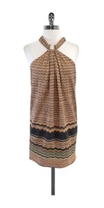 Missoni short dress Blush & Grey Chevron Knit Sleeveless on Tradesy