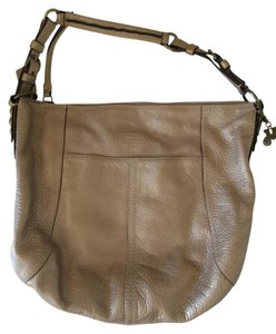 Coach Gold Leather Strap Classic Shoulder Bag