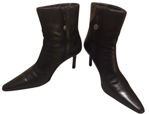 Ralph Lauren Calf Leather High Heel BLACK Boots