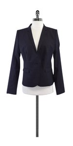 Hugo Boss Midnight Blue Wool Pinstripe Blazer