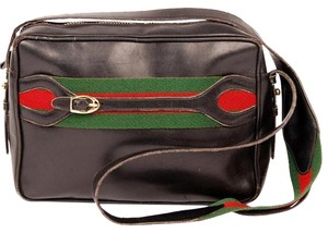 Gucci Vintage Canvas Gg Striped Shoulder Bag