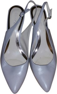 Calvin Klein Light Gray/Beige Pumps