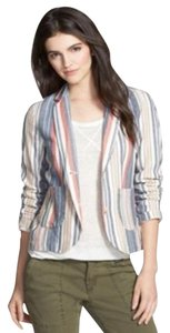 Anthropologie Ivory/ Blue/Red Blazer