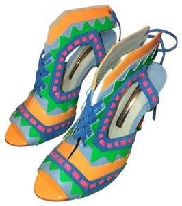 Sophia Webster Pink green blue orange Pumps