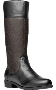 Propet Riding Leather Scotchgard Black/Charcoal Boots