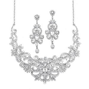 Mariell Special - Stunning Statement Bridal Necklace Jewelry Set