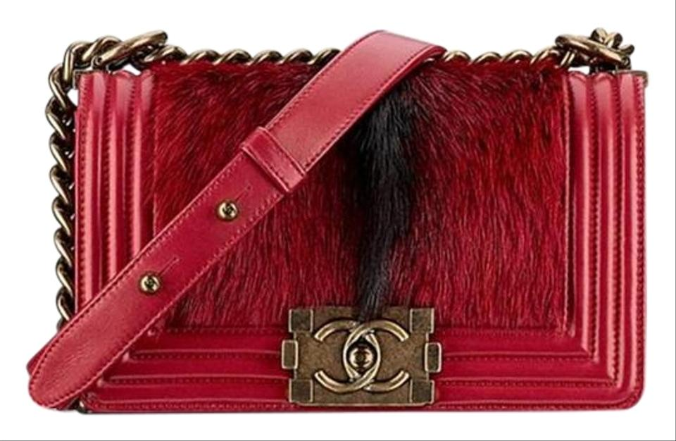 f37364b3538 Chanel Boy Salzburg Pre-fall with Goat Calf Skin Red Goat Calf Cross ...