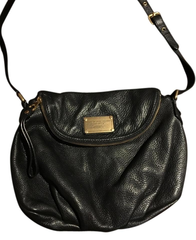 136ca76063 Marc by Marc Jacobs Classic Q Natasha Black Leather Cross Body Bag ...