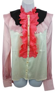 Manoush Silk Blouse Button Down Shirt