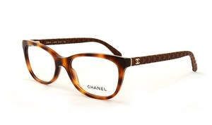 Chanel NEW Chanel 3288Q Brown Quilted Leather Cat Eye Eyeglasses Frames