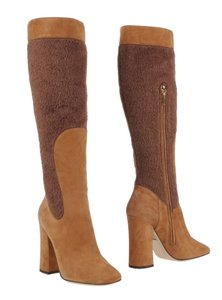 Dolce&Gabbana Shearling Suede Retro 8 Camel Boots