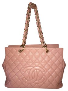Chanel Gst Grand Shopper Timeless Tote in pink